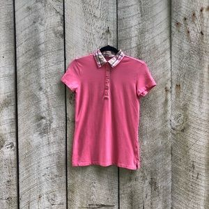 Izod | pink golf classic polo short sleeve top